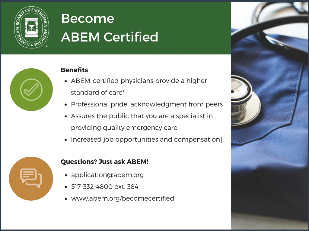 Info for Graduates on ABEM Certification
